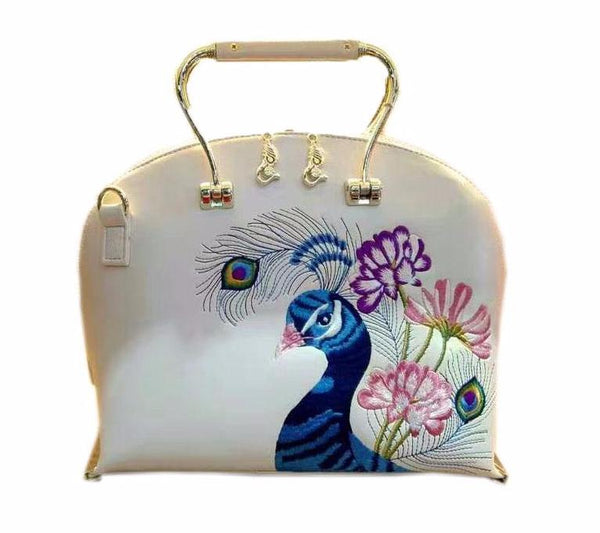 2017 NEW Embroidered Peacock Evening Bag