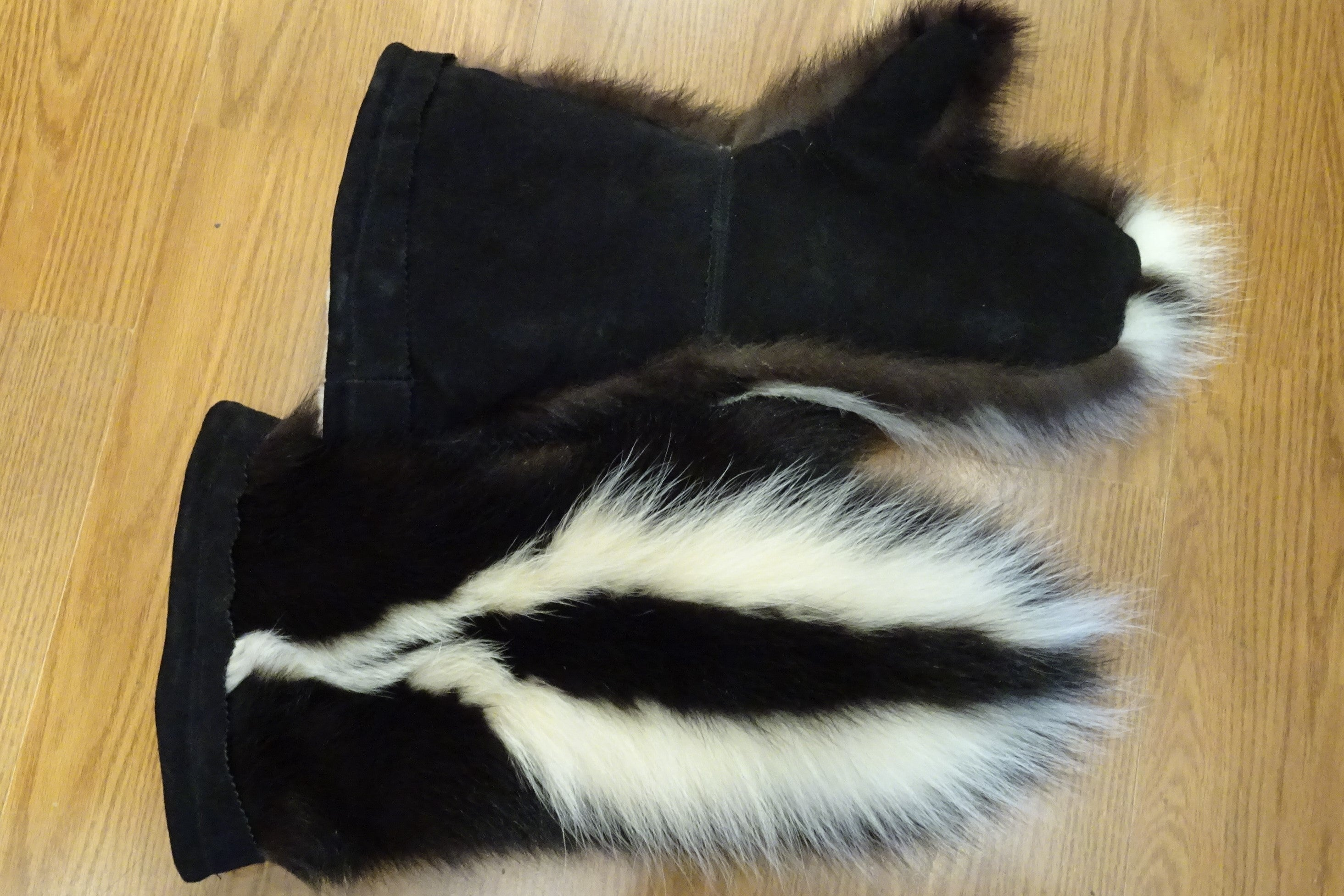 Fur mittens- Gauntlets with Shearling Lining