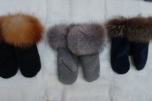 Suede Ladies Mittens