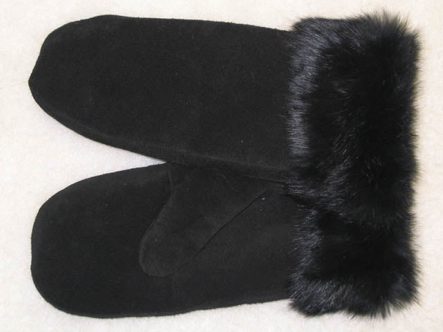 Sheared Beaver Lined Ladies Mitts