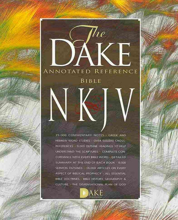 NKJV Dake Annotated Reference Bible (Burgundy Leather)