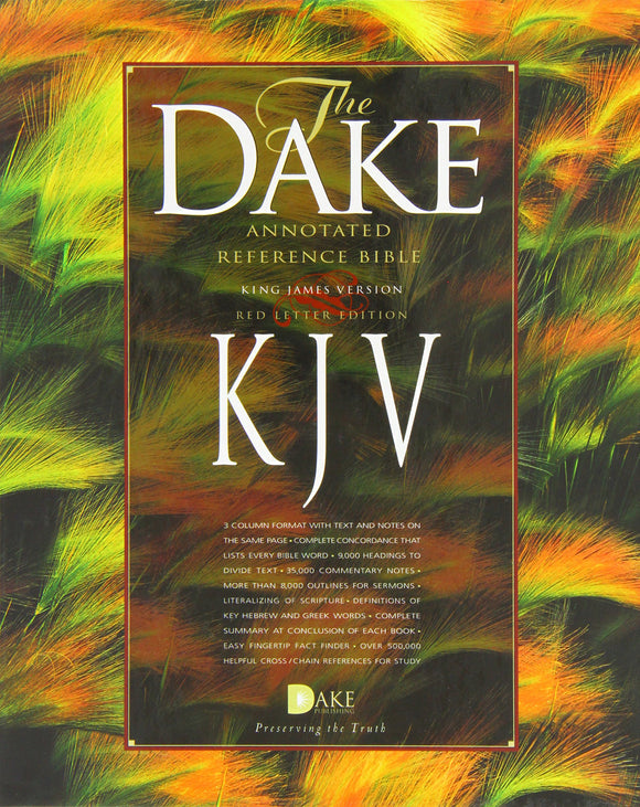 KJV Dake Annotated Reference Bible (Black Leather)