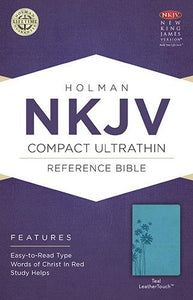 NKJV Compact Ultrathin Bible Teal by Holman (LeatherTouch)