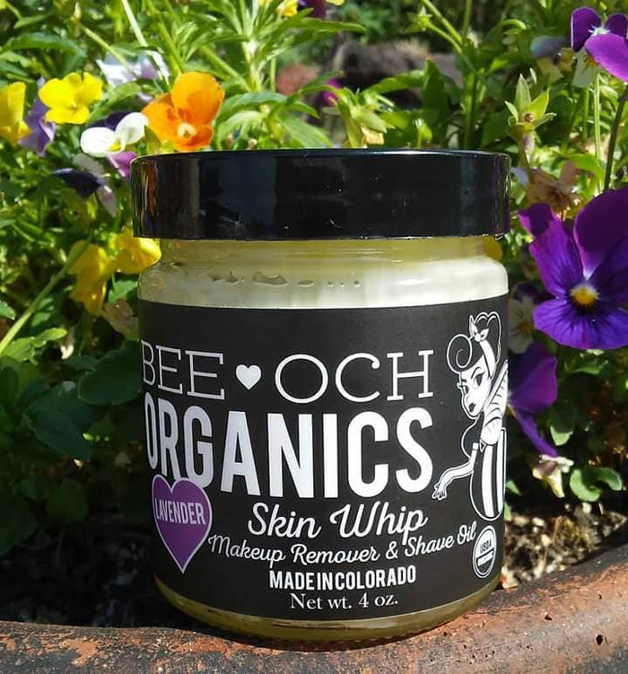 BEE-OCH Organics - Organic Skin Whip Eye Makeup Remover/Shave Oil - 4oz Glass