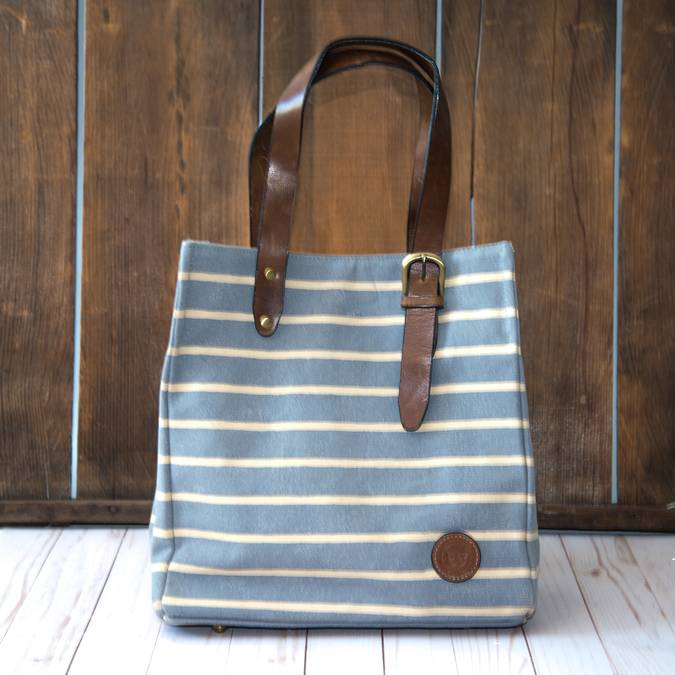 Nice Blue Striped Tote Bag