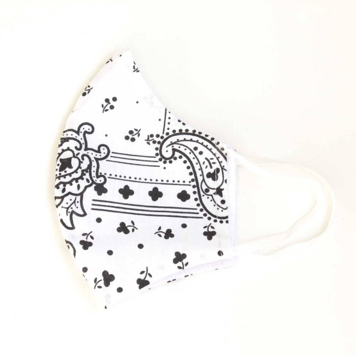 Face Mask with Filter - Bandana - Black & White - In stock now!
