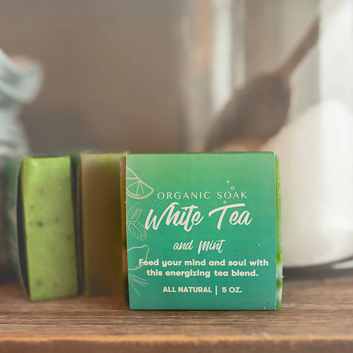 Organic Soak - White Tea and Mint All Natural Bar Soap