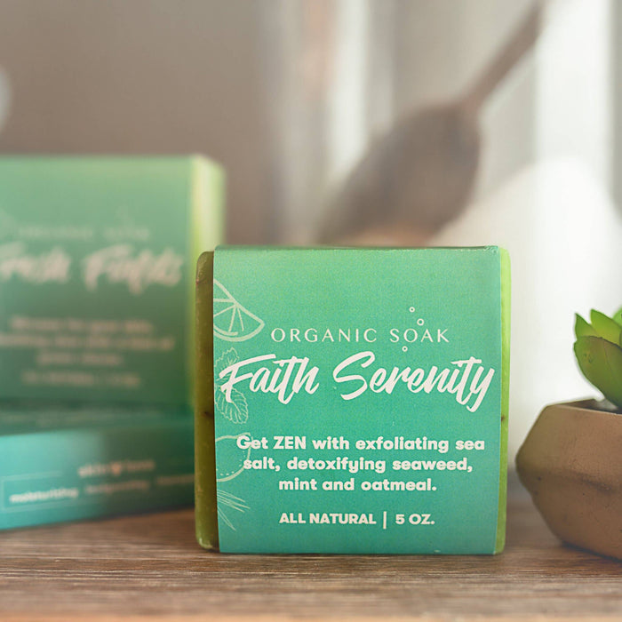 Organic Soak - Faith and Serenity All Natural Bar Soap Scrub