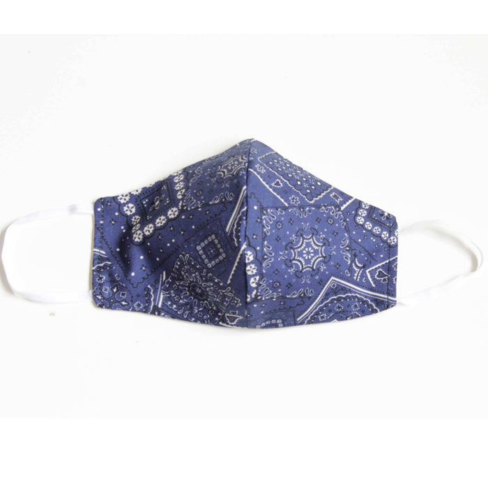 Face Mask with Filter - Bandana - BLUE- In stock now!
