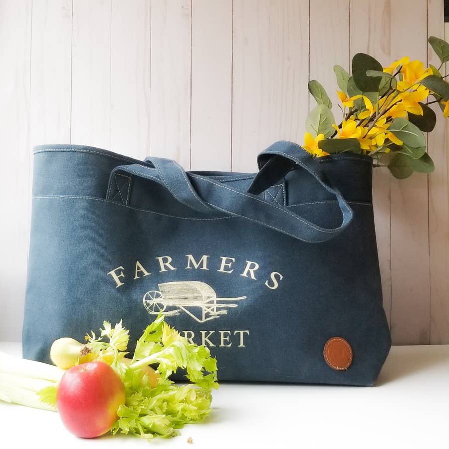 Le Papillon - PVC coated Farmers Market bag
