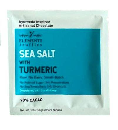 Elements Truffles - Sea Salt with Turmeric Chocolate Bar