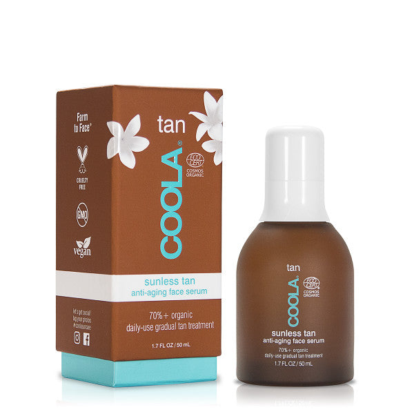 40% off at checkout! Coola organic sunless tan anti-aging face serum