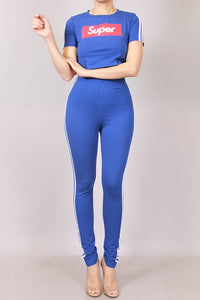 High Waist Solid Pants With Piping Design