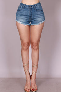 Fray Blue Jean Shorts