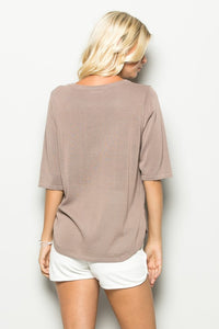 Knit Khaki Top