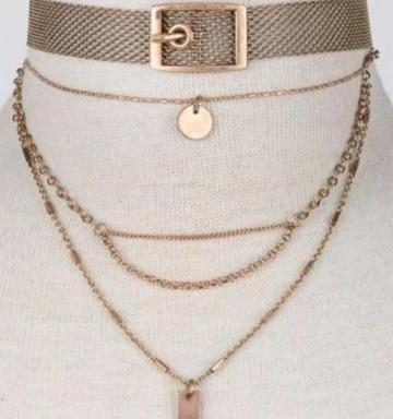 Gold Multi Length Necklace