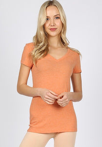 Orange V-Neck Shirt