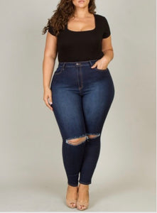 Curvy Fitted Jeans