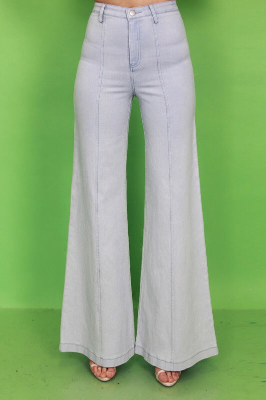High Waisted Wide Leg Jeans