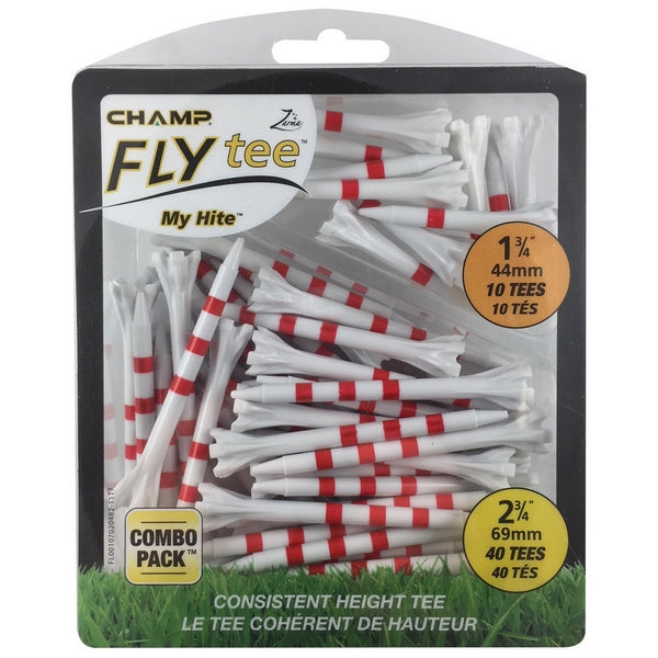 "Tees Champ Fly Tee Combo Pack 2 3/4"" & 1 3/4"""
