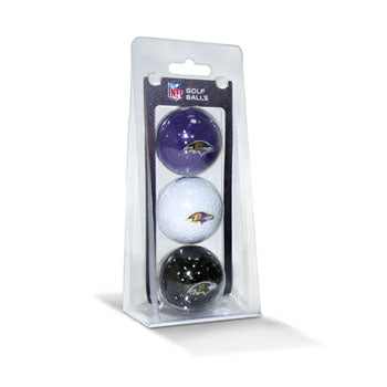 Pelotas Team Golf Baltimore Ravens 3 Pack