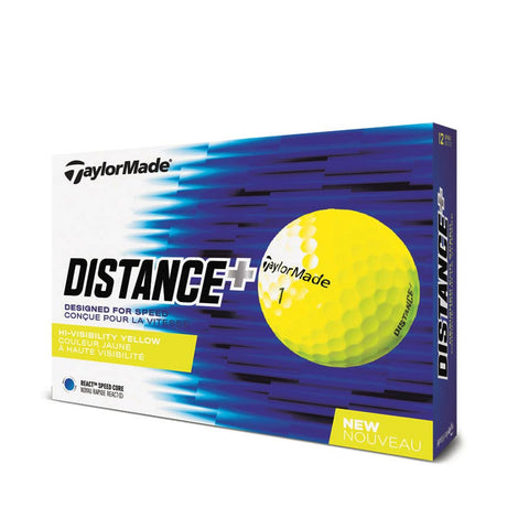 Pelotas TaylorMade Distance+ Yellow