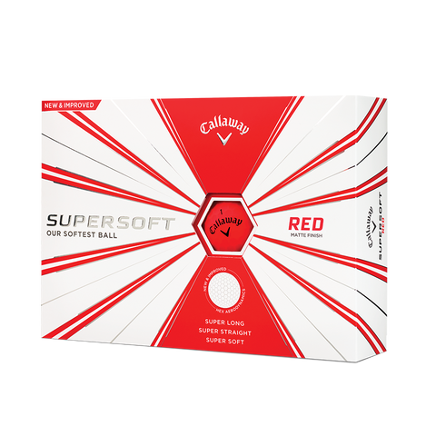 Pelotas Callaway SuperSoft Matte Red