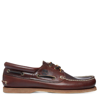 Men's Padded Collar Boat Shoe Brown