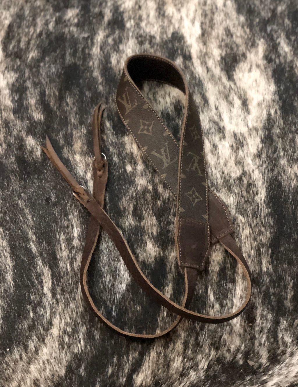 Upcycled Louis Vuitton Camera Strap
