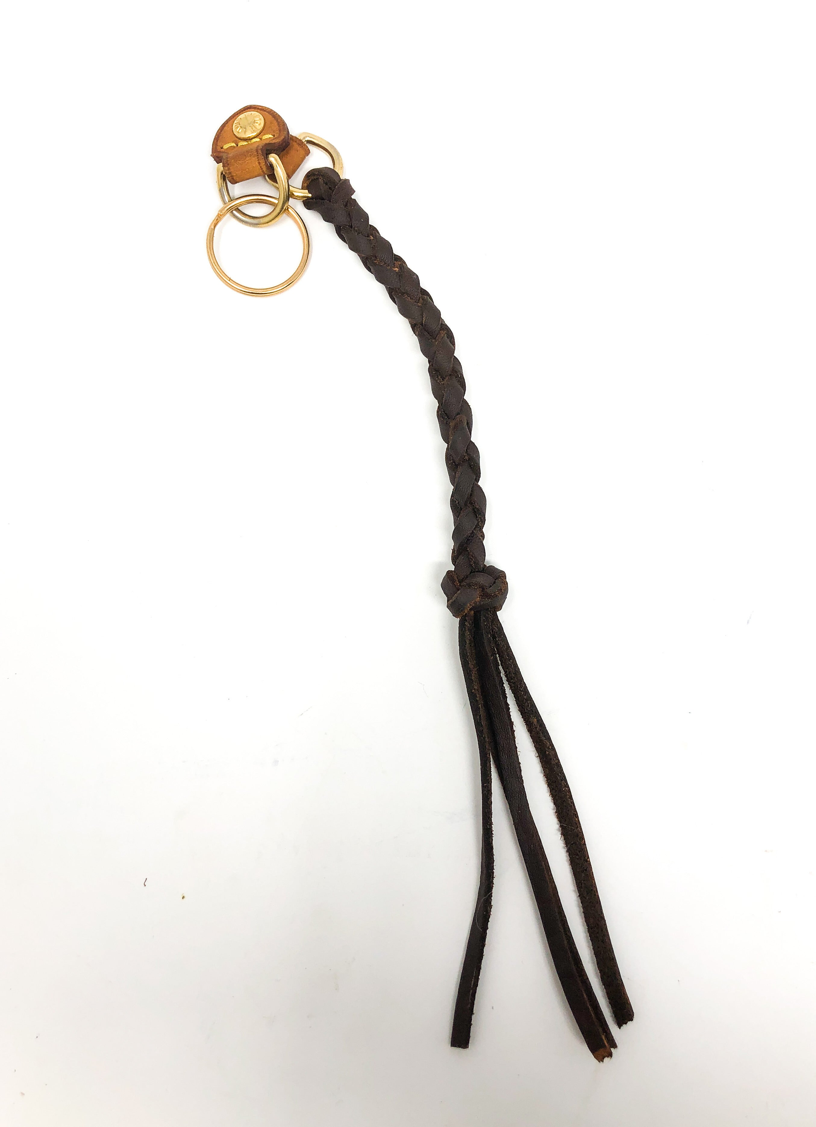 Large Braided Keychain with Louis Vuitton Hardware