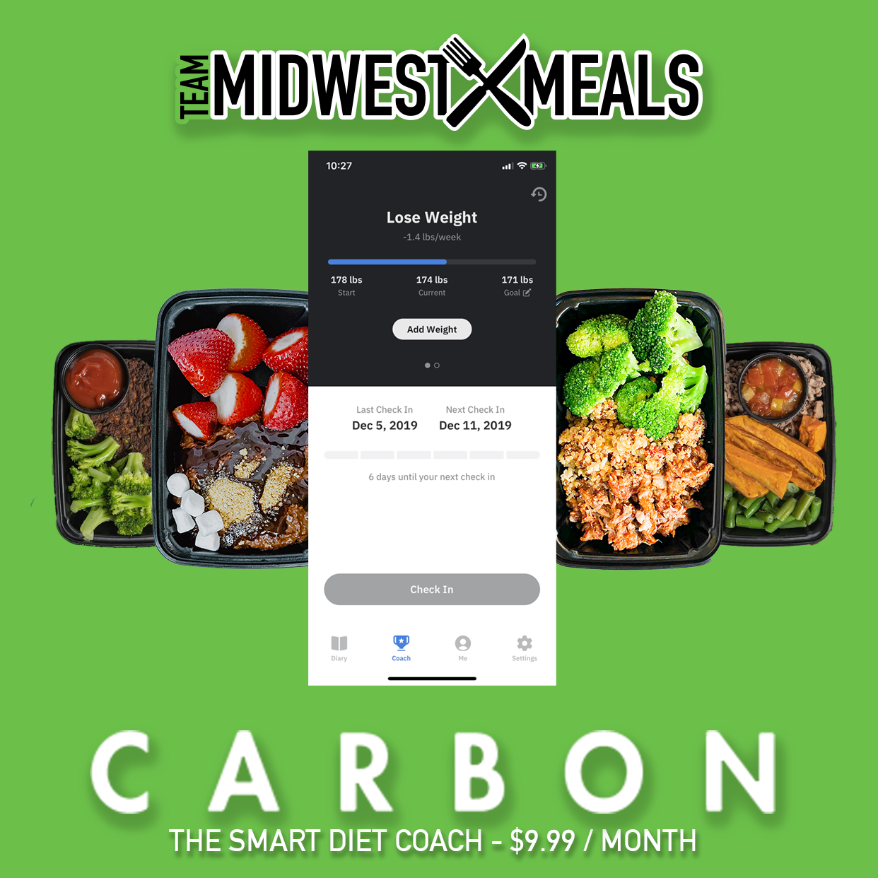Inside Look At Carbon Diet App ($9.99 / month)