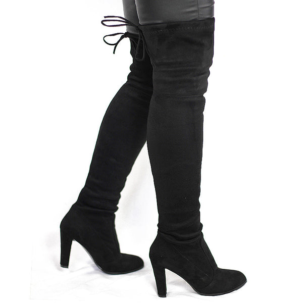 Winter Knee High -  Black/Grey/Khaki/Deep Red/Brown
