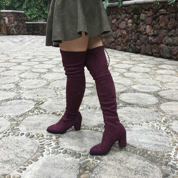 plus size thigh highs boots