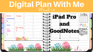 Digital Plan With Me - Week 12 of 2018
