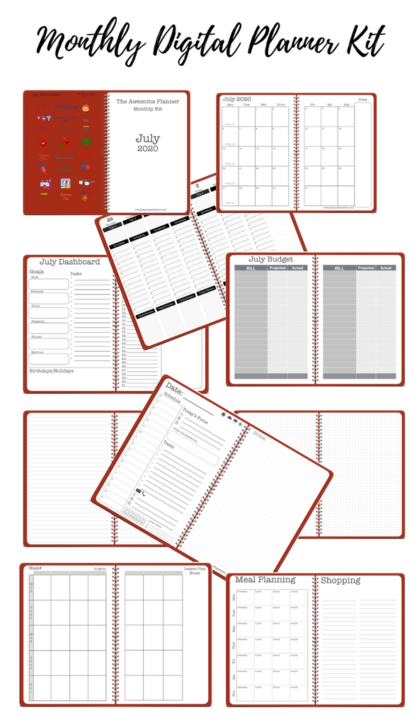 Members July 2020 Monthly Planner Kit is Ready