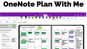Plan March With Me in OneNote