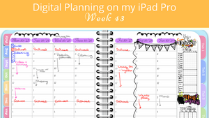Planning My Week in GoodNotes - My Digital Awesome Planner for Week 43 of 2017