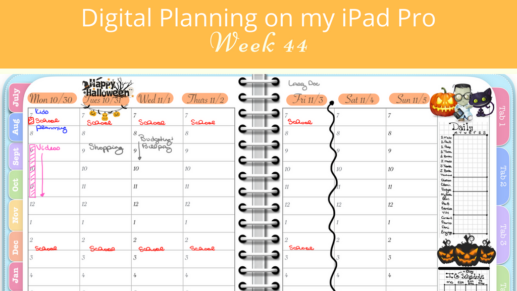 Planning My Week in the Awesome Planner - Week 44