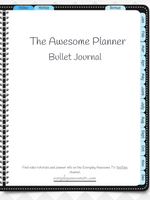 GoodNotes Digital Bullet Journal - Undated - Black - Digital Planner - The Awesome Planner