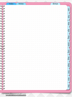 Digital Bullet Journal - Undated - Pink