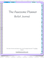 GoodNotes Digital Bullet Journal - Undated - Purple - Digital Planner - The Awesome Planner