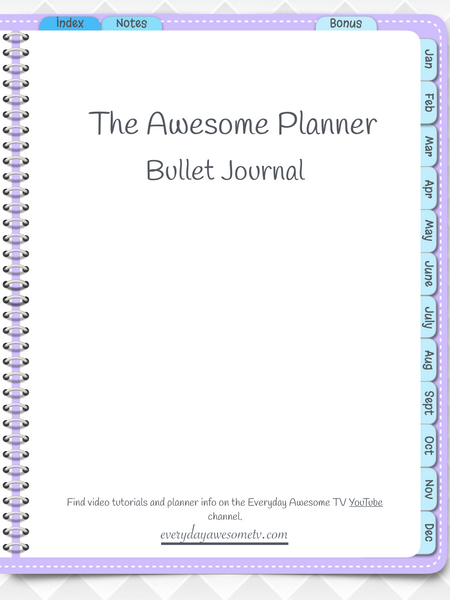 Digital Bullet Journal - Undated - Purple - Digital Planner - The Awesome Planner