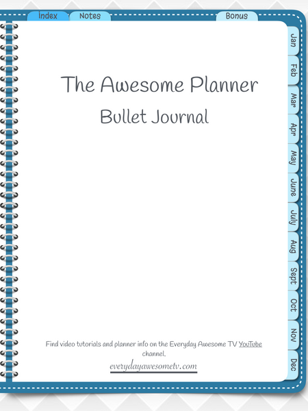 Digital Bullet Journal - Undated - Teal - Digital Planner - The Awesome Planner