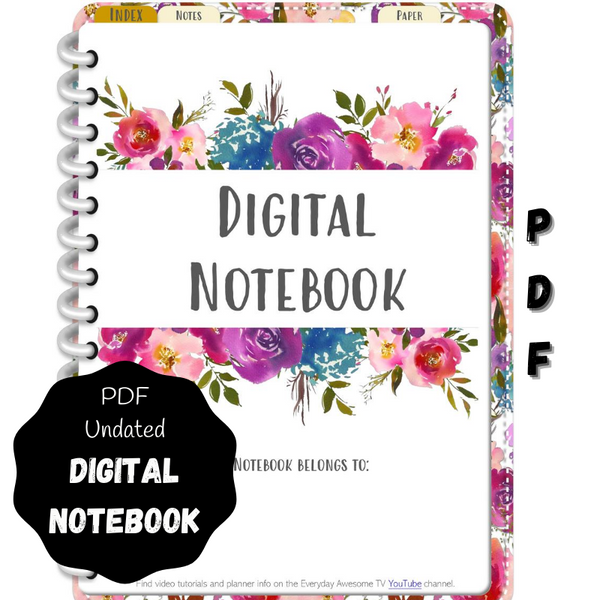 Digital PDF Notebook - Commonplace Book