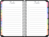 GoodNotes Undated Vertical Awesome Planner in Black - Digital Planner - The Awesome Planner