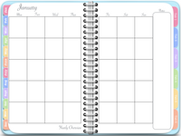 Vertical Awesome Planner in Blue (Undated Version)