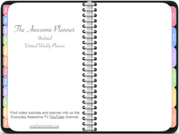 Vertical Awesome Planner in Black (Undated Version)