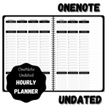 OneNote Undated Hourly Planner - Black