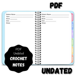 Digital PDF Crochet Project Planner