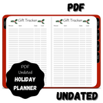 Digital PDF Holiday Planner - With December Daily - Red